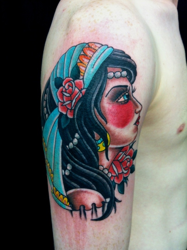 Pin gypsy apparel on pinterest for Sailor jerry gypsy tattoo